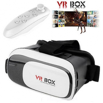 VR Box Headset med Fjernkontroll