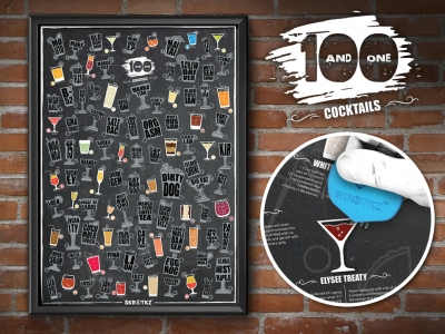 Cocktails scratch poster